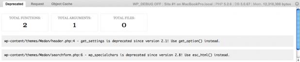WP Debug Bar Screenshot