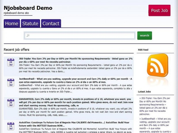 Njobsboard WP Theme screenshoot