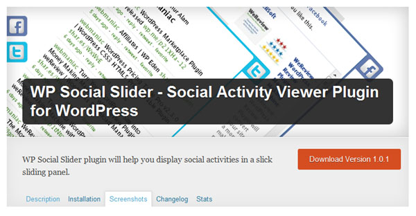 wp social plugin slider